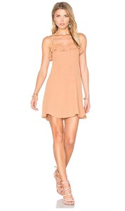 Privacy Please short dress Camel Ruffle Summer Night Out Date Night on Tradesy