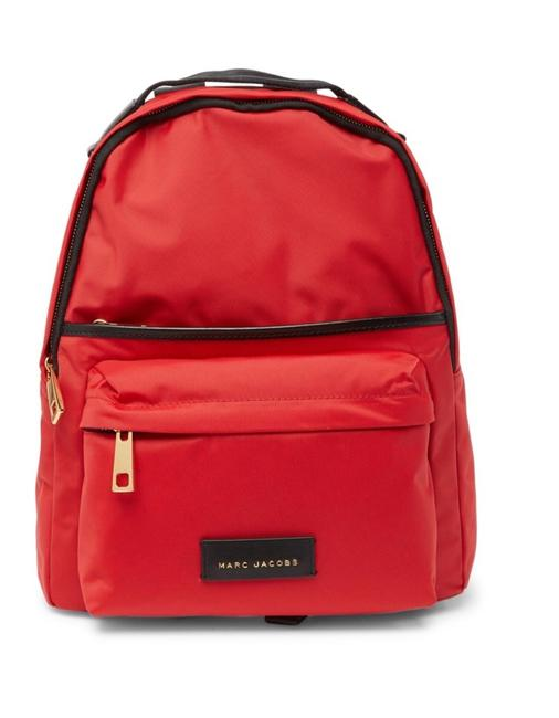 Item - Large Nylon School Red Apple Textile Exterior and Lining Backpack