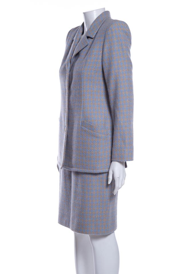 1a42f71cf Valentino Multicolor Vintage Gray & Blue Skirt Suit Size 8 (M) - Tradesy