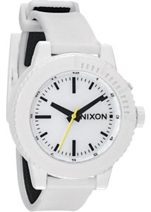 46e4fb8cb Nixon A287100 Womens White Rubber Band With White Analog Dial Watch
