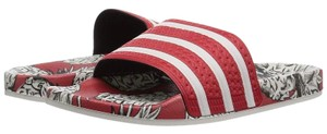 adidas Pineapple Red Sandals