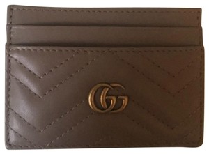 Gucci Gucci Marmont Card Holder Case Quilted Porcelain Rose GC