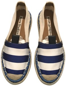 Acne Studios Espadrilles And Summer Blue/White Flats