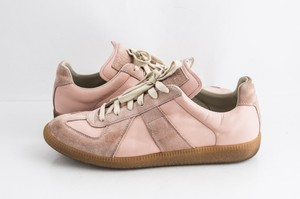 Maison Margiela Pink Replica Suede Leather Low-top Sneakers Shoes
