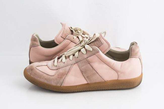 Item - Pink Replica Suede Leather Low-top Sneakers Shoes