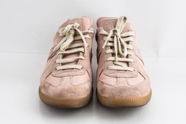 Maison Margiela Pink Replica Suede Leather Low-top Sneakers Shoes Maison Margiela Pink Replica Suede Leather Low-top Sneakers Shoes Image 2