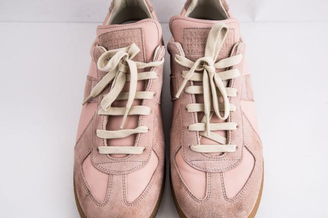 Maison Margiela Pink Replica Suede Leather Low-top Sneakers Shoes Maison Margiela Pink Replica Suede Leather Low-top Sneakers Shoes Image 12