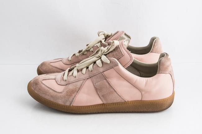 Maison Margiela Pink Replica Suede Leather Low-top Sneakers Shoes Maison Margiela Pink Replica Suede Leather Low-top Sneakers Shoes Image 3