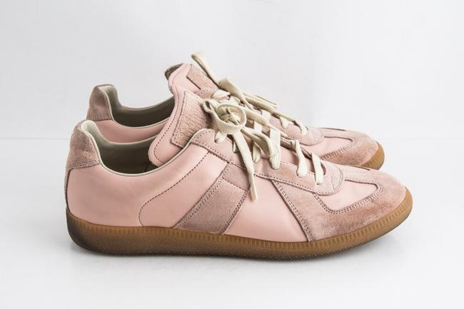 Maison Margiela Pink Replica Suede Leather Low-top Sneakers Shoes Maison Margiela Pink Replica Suede Leather Low-top Sneakers Shoes Image 4