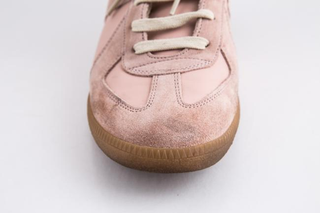 Maison Margiela Pink Replica Suede Leather Low-top Sneakers Shoes Maison Margiela Pink Replica Suede Leather Low-top Sneakers Shoes Image 8