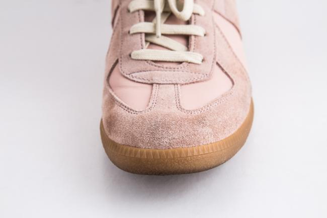 Maison Margiela Pink Replica Suede Leather Low-top Sneakers Shoes Maison Margiela Pink Replica Suede Leather Low-top Sneakers Shoes Image 9