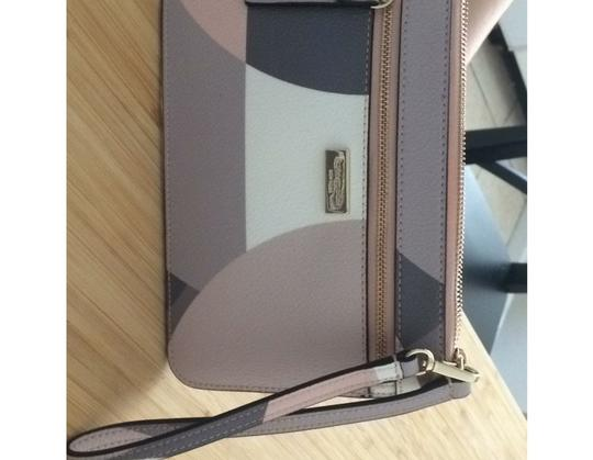 Kate Spade Pink. Brown. White. Beige. Gold Clutch Image 2