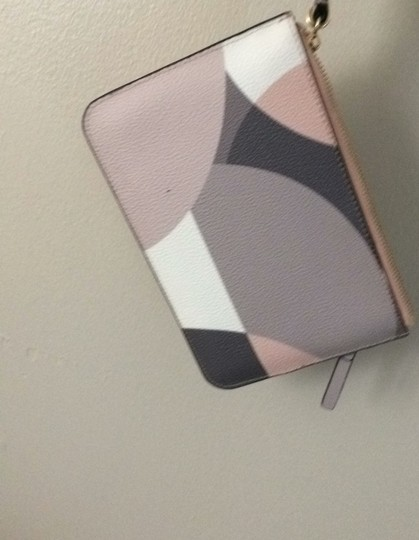 Kate Spade Pink. Brown. White. Beige. Gold Clutch Image 3