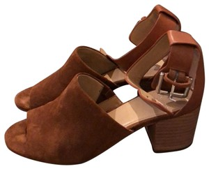 Marc Fisher brown suede Mules