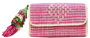 Mar Y Sol Summer Tassels Preppy Party Date Night Pink Clutch