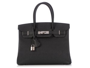 Hermès Epsom B30 Palladium Hr.q0308.03 Satchel in Black