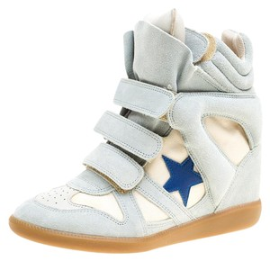 Isabel Marant Suede Wedge Canvas Grey Platforms