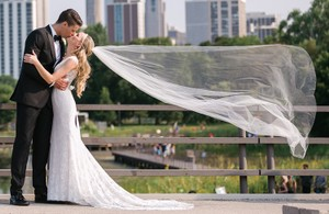 Bel Aire Bridal Light Ivory Long Luxe Cathedral Bridal Veil