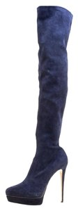 Le Silla Pointed Toe Navy Blue Boots