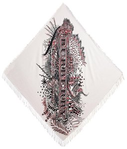 Burberry Burberry Doodle Print Silk-Cotton Scarf