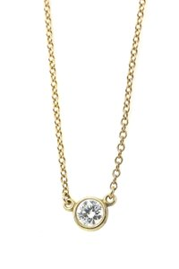 Tiffany & Co. Elsa Peretti Diamond Solitaire Necklace