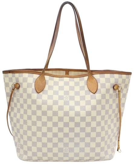 Louis Vuitton Neverfull Cream Neverfull Checker Neverfull Tote in White Image 0