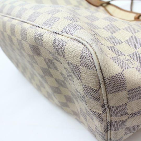 Louis Vuitton Neverfull Cream Neverfull Checker Neverfull Tote in White Image 11