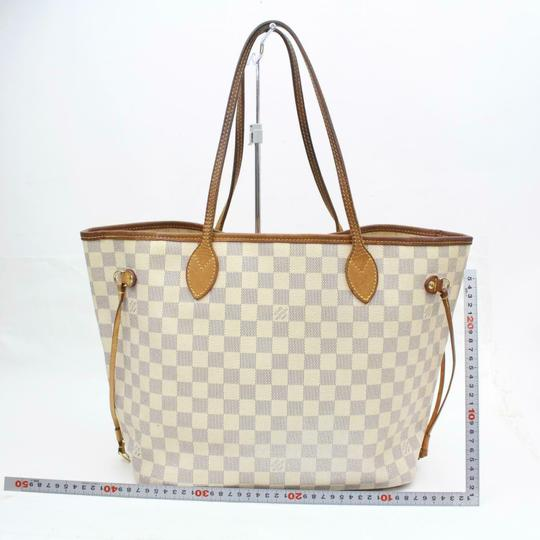 Louis Vuitton Neverfull Cream Neverfull Checker Neverfull Tote in White Image 5