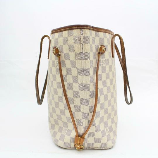 Louis Vuitton Neverfull Cream Neverfull Checker Neverfull Tote in White Image 7