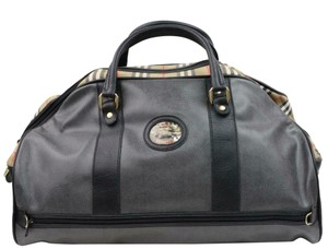 Burberry Duffle Keepall Boston Grey Travel Bag