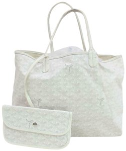 Goyard Neverfull Louie Saint Louise Tote in white