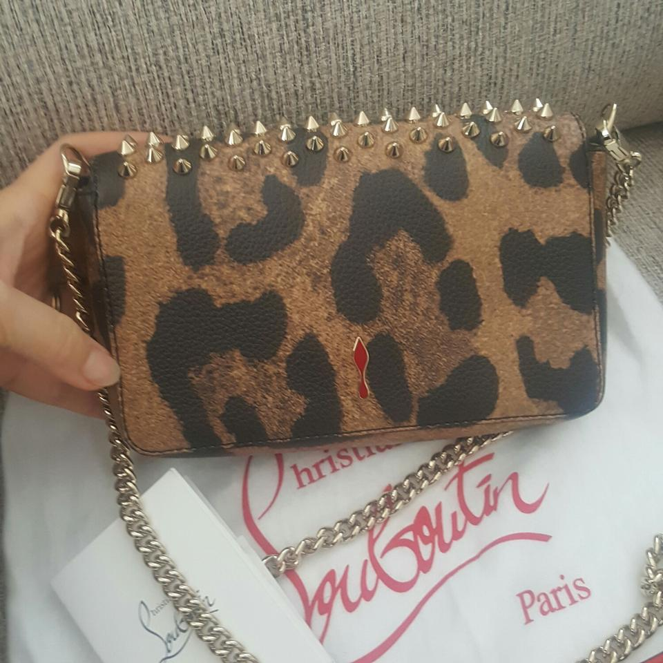 be68e248983 Christian Louboutin Shoulder Clutch Zoompouch Leopard Print Leather Cross  Body Bag 37% off retail
