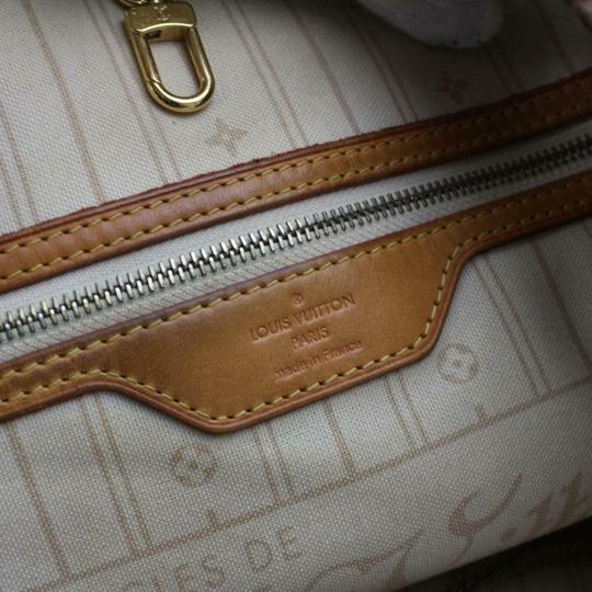 Louis Vuitton Neverfold Neverfill Neverfull Checker Neverfull Tote in white Image 3