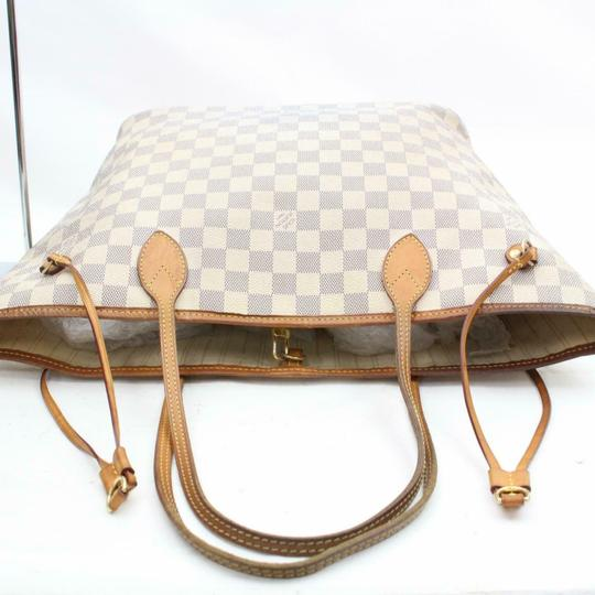Louis Vuitton Neverfold Neverfill Neverfull Checker Neverfull Tote in white Image 4