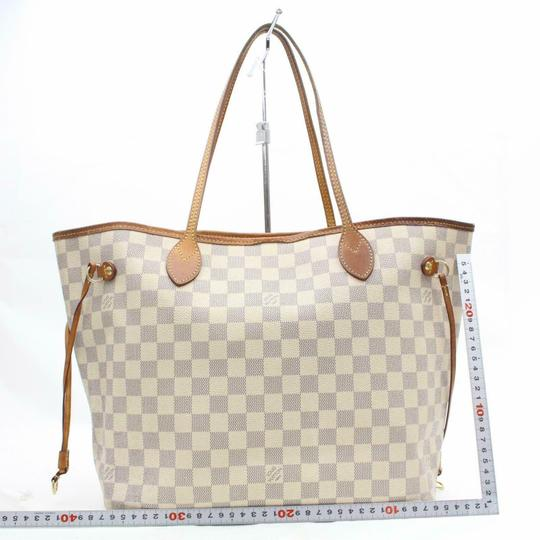 Louis Vuitton Neverfold Neverfill Neverfull Checker Neverfull Tote in white Image 5