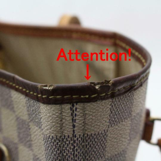 Louis Vuitton Neverfold Neverfill Neverfull Checker Neverfull Tote in white Image 8