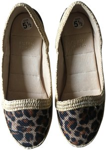 Eileen Fisher Animal Print Cheetah Leopard Espadrille Brown Flats