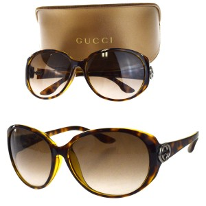 1d714f4cf299c Gucci GUCCI GG Logos Sunglasses Eye Wear Plastic Brown GG3174 Italy
