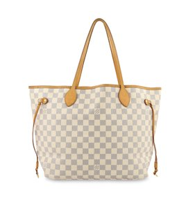 Louis Vuitton Lv Damier Azur Neverfull Mm Shoulder Bag