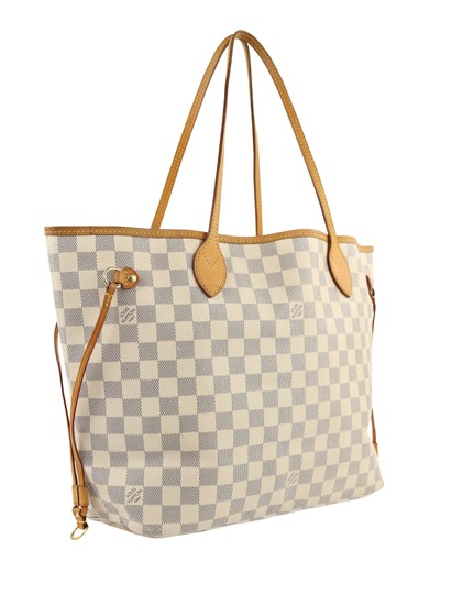 Louis Vuitton Lv Damier Azur Neverfull Mm Shoulder Bag Image 1