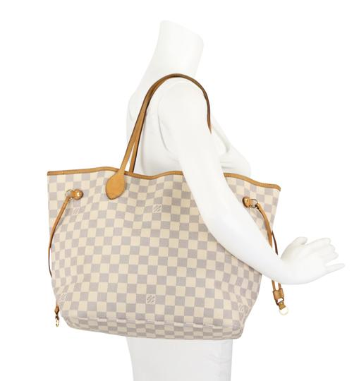 Louis Vuitton Lv Damier Azur Neverfull Mm Shoulder Bag Image 11