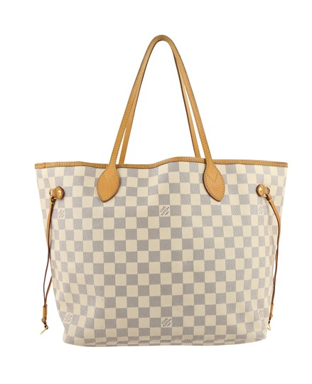 Louis Vuitton Lv Damier Azur Neverfull Mm Shoulder Bag Image 2