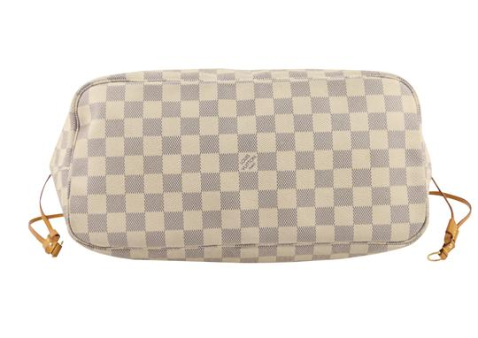 Louis Vuitton Lv Damier Azur Neverfull Mm Shoulder Bag Image 3