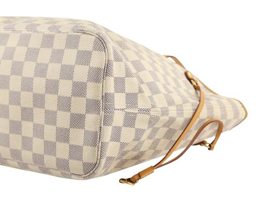 Louis Vuitton Lv Damier Azur Neverfull Mm Shoulder Bag Image 4