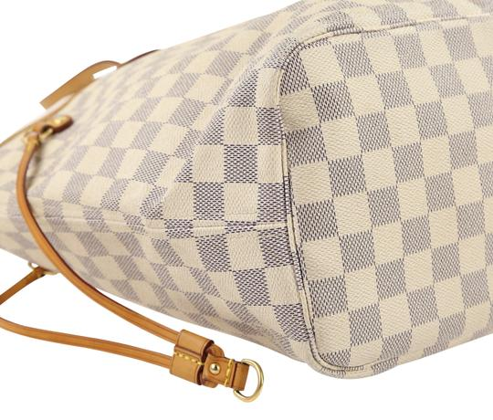 Louis Vuitton Lv Damier Azur Neverfull Mm Shoulder Bag Image 5