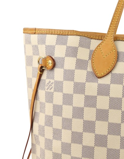 Louis Vuitton Lv Damier Azur Neverfull Mm Shoulder Bag Image 6