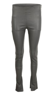 Balenciaga Lambskin Leather Cotton Elastic Grey Leggings