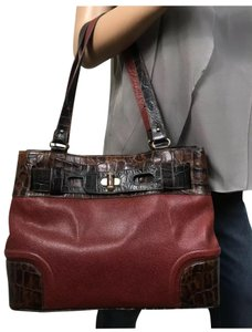 Brahmin Tote in brown red