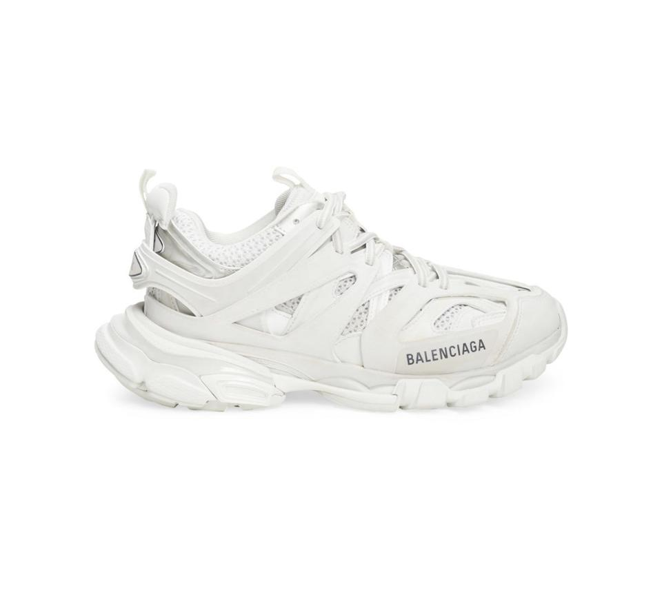 Balenciaga Yellow Grey Track Runner Sneakers SSENSE