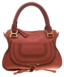 Chloé Leather Satchel in Red